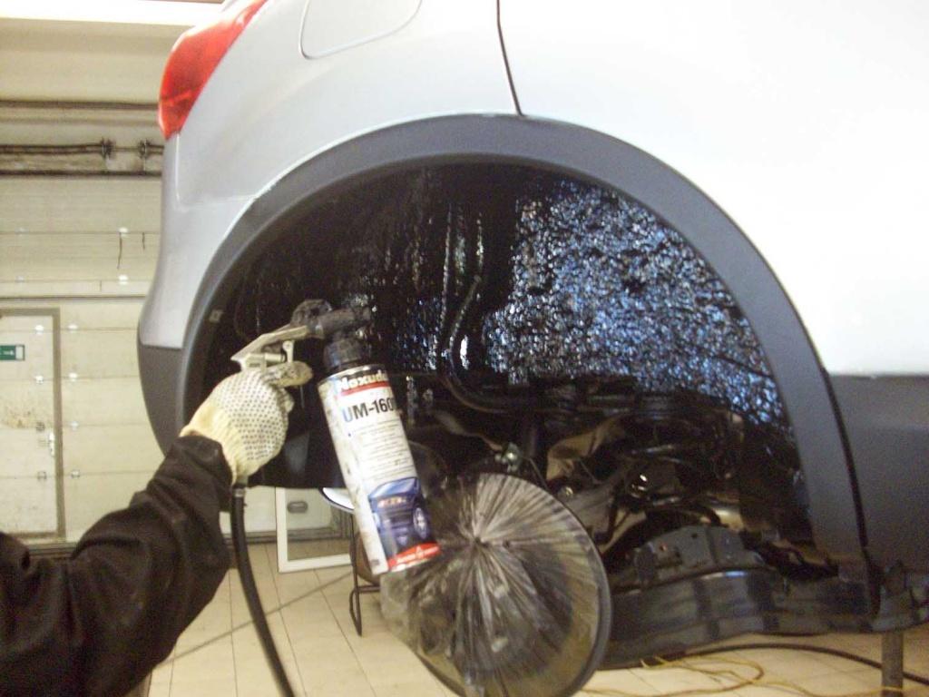 Как обработать днище автомобиля своими руками видео